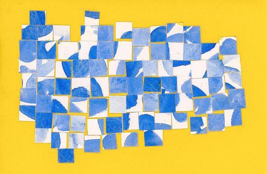 como continuar criativo Colagem de Frederico Motta com aquarelas de Michele Oliveira